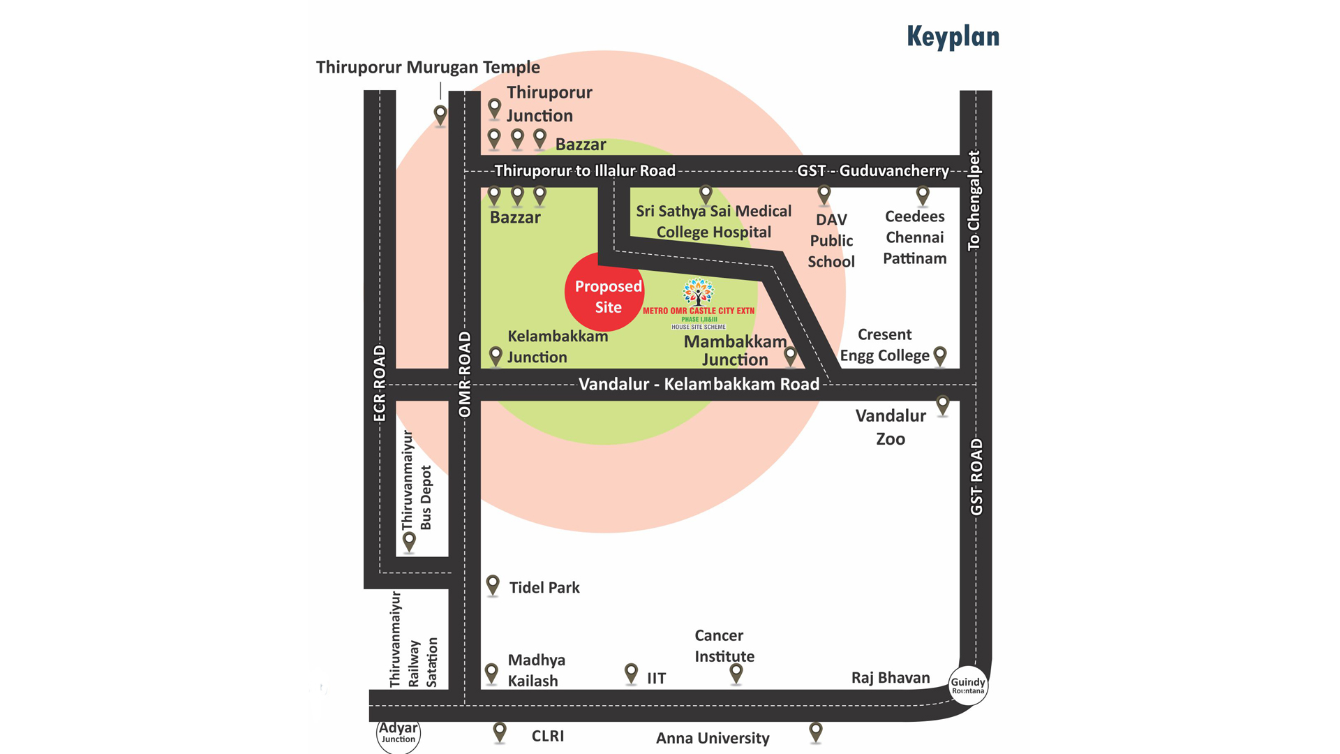 Metro-OMR-Castle-City-Keyplan
